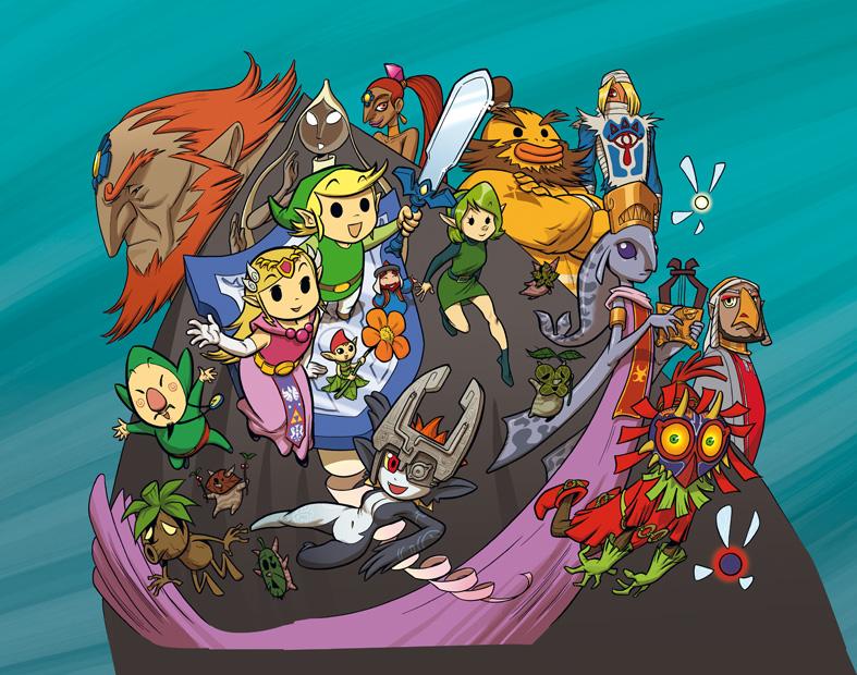ZELDA characters by migouzeAll Zelda Characters