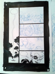 Ogrest :  a pencil page being inking