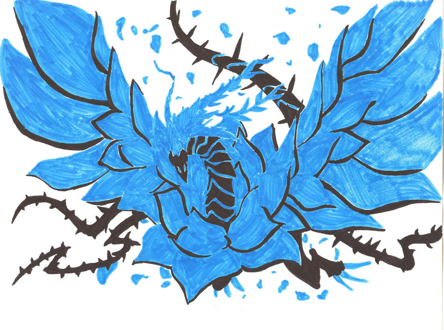 Blue Rose Dragon by