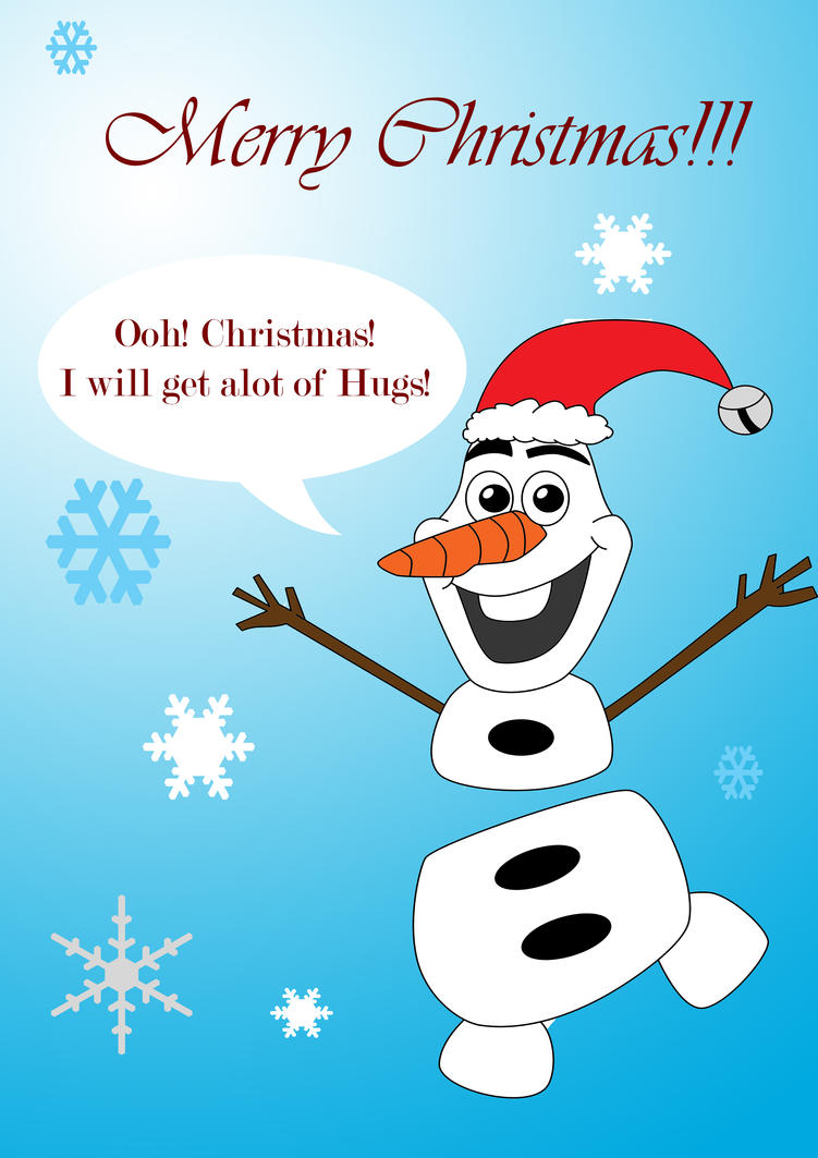 Merry Christmas from Olaf! by VioletRoseDragon14 on DeviantArt