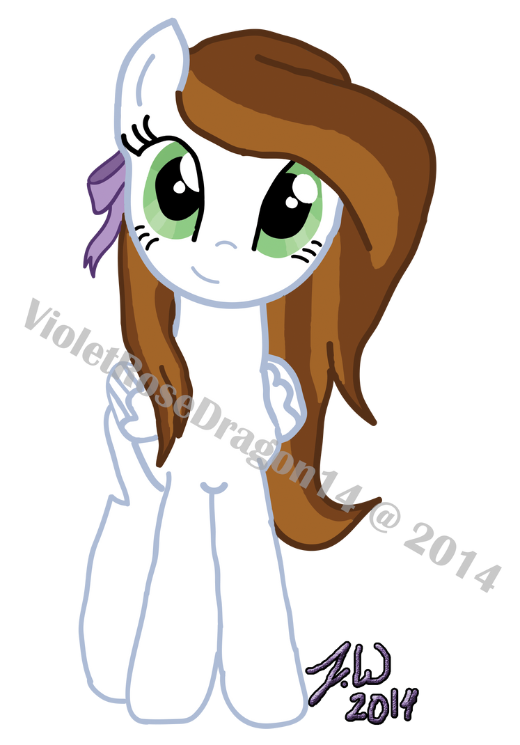 Mlp Oc Angelic Harmony Front By Violetrosedragon14 On