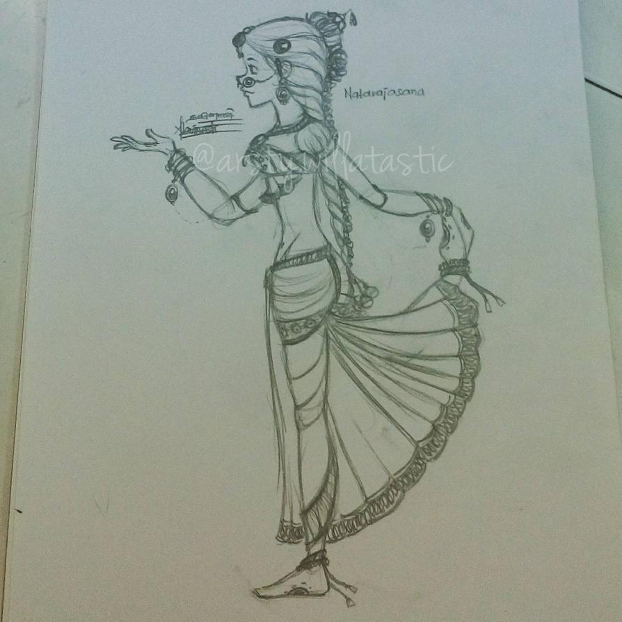 Bharathanatyam Pose Study I - Natarajasana by Willatastic09