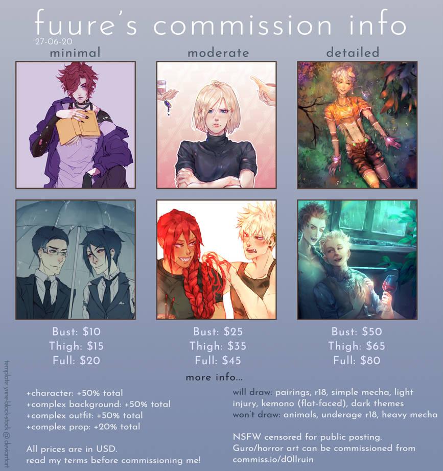 Fuure's Commission Info (JUN 2020)