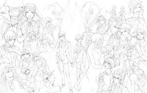 [Free Lineart] BlackSpace - Kuroshitsuji Cast!