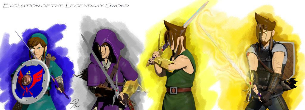 Evolution of the Legendary Sword by Solodarkblade