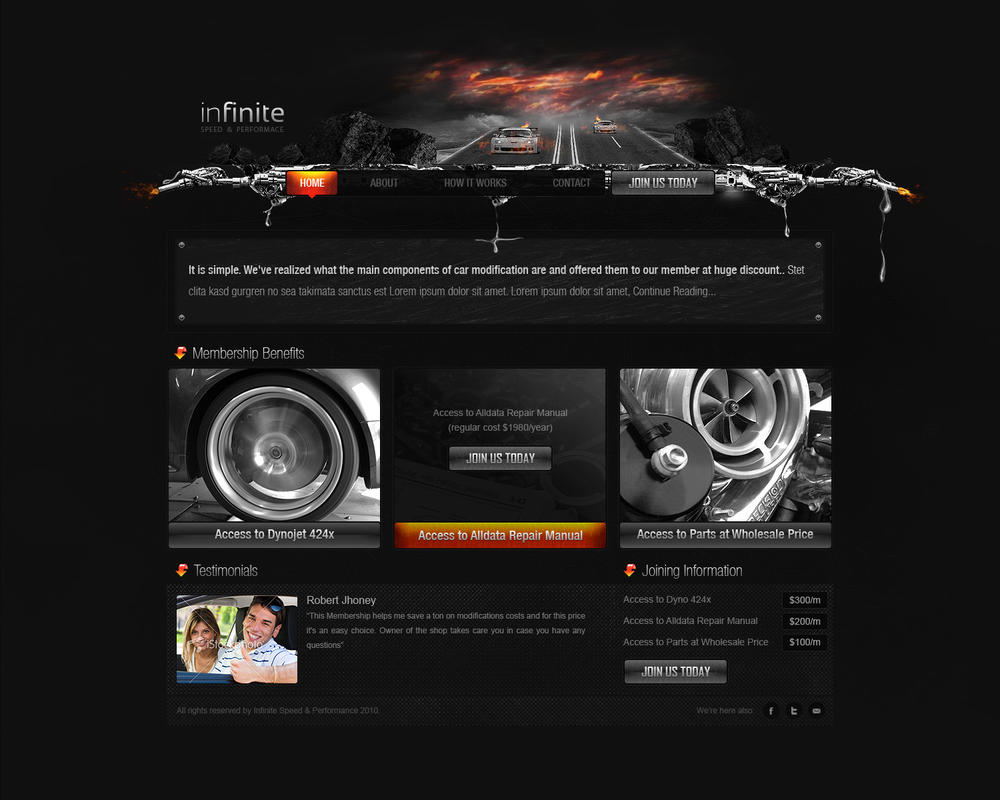 infinite by zee7 d2zvo2v Web Design Inspiration: Inspiring and Creative Web Interface Designs