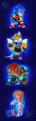 Sonic Cast Redesigns (AU)