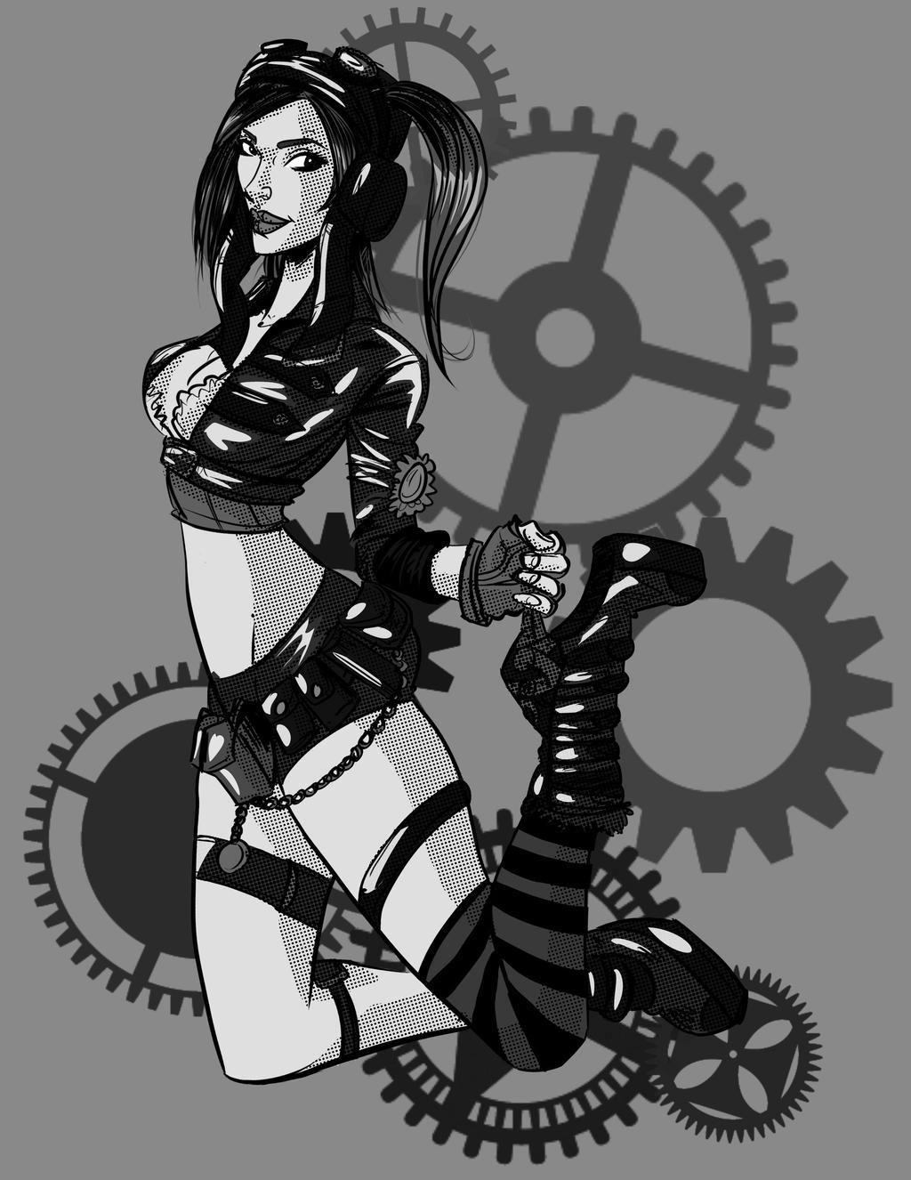 Steampunk model kato Kate Lambert