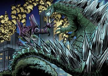 Godzilla vs Eva by Refs