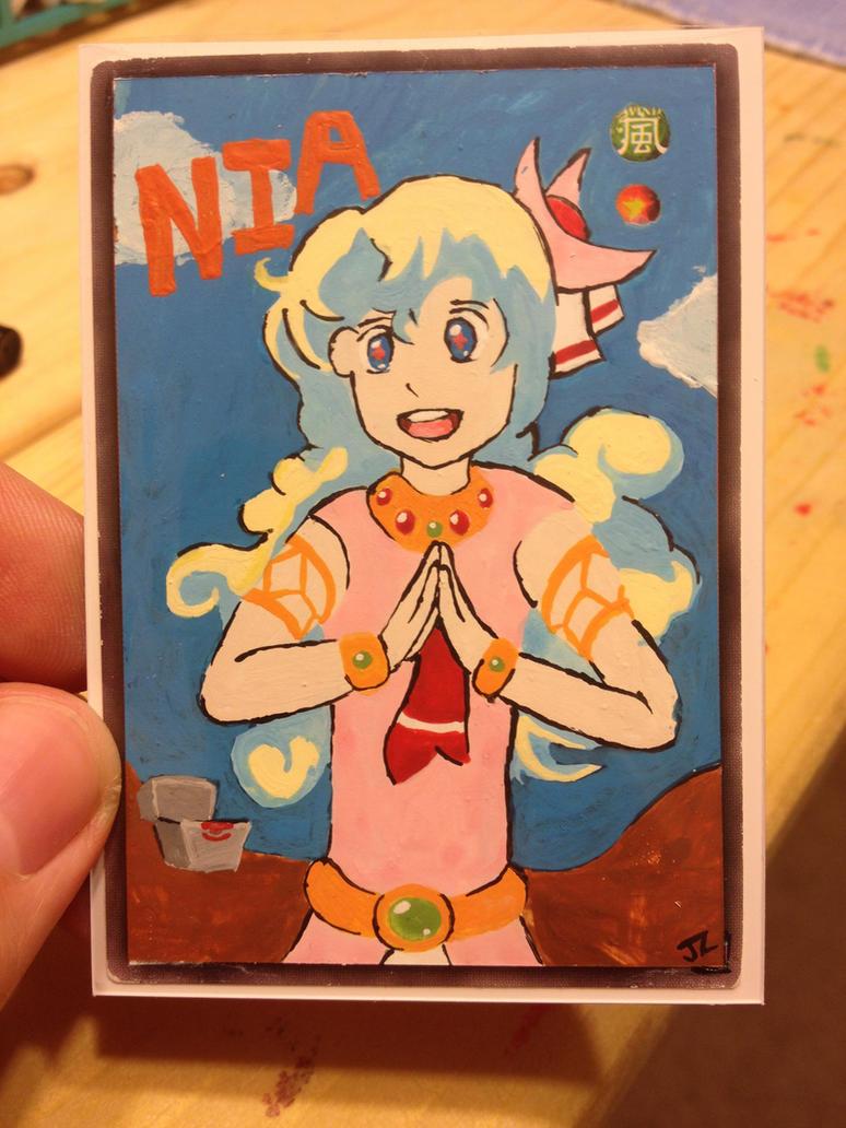 Altered Yugioh Card Art: Nia Gurren Lagann by Lion-Oh-Day