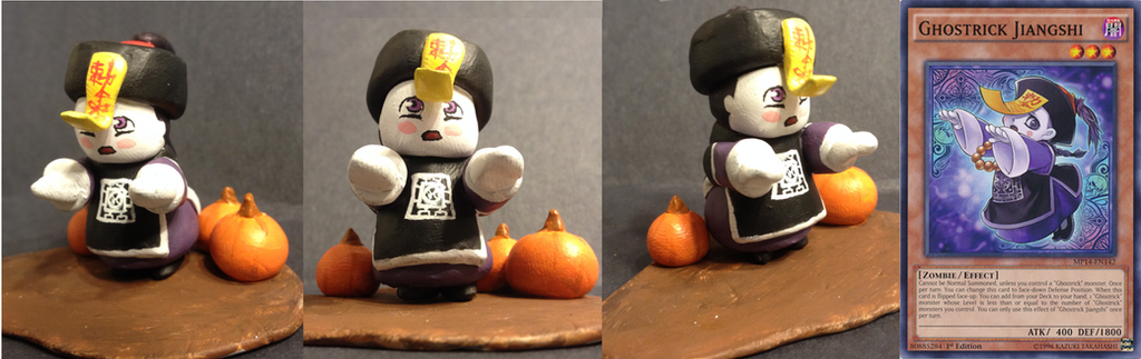 Yugioh: Clay Sculpture Ghostrick Jiangshi by Lion-Oh-Day