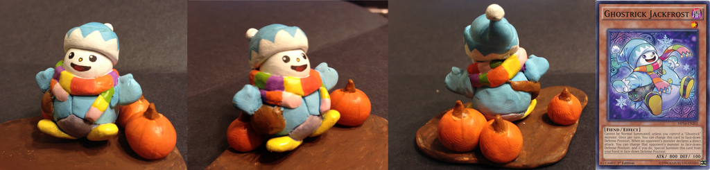 Yugioh: Clay Sculpture Ghostrick Jackfrost by Lion-Oh-Day