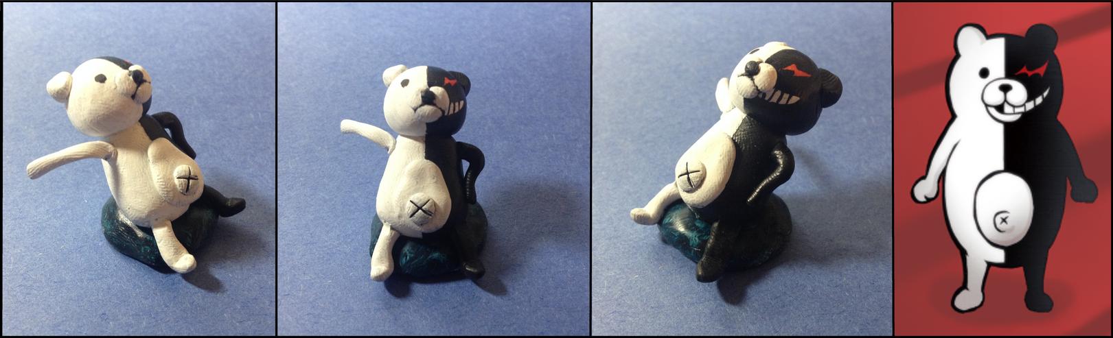 Lion Sculpts: Monokuma upupupu by Lion-Oh-Day