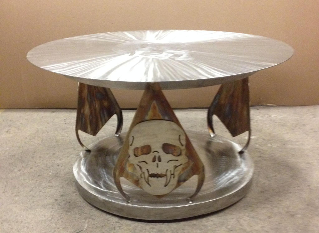 Finished Skull Coffee Table by LadyDracos on DeviantArt