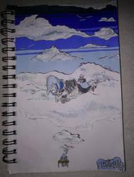 INKTOBER-Day 2: Tranquil by Semrah-Hussaini