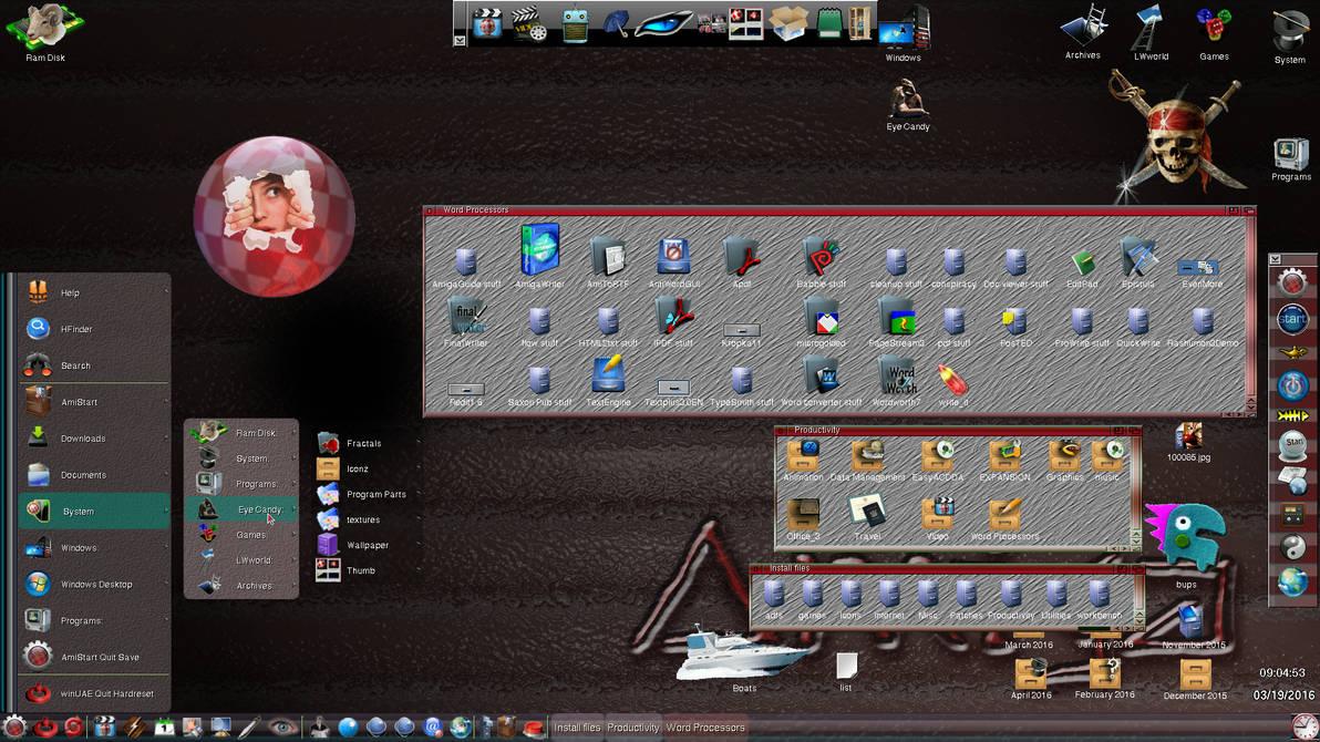 19 March 2016 winUAE Amiga OS 3.9 custom by carbhael