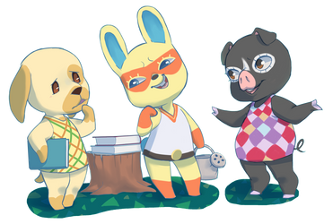 Animal Crossing Hanging out