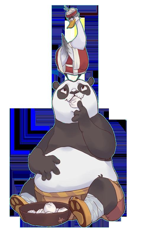 Kung fu Panda - Po and Mr. Ping