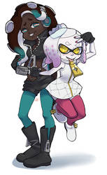 Marina and Pearl by qeius