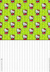 Hello Kitty Lucky Paper Stars paper by Heisotsu