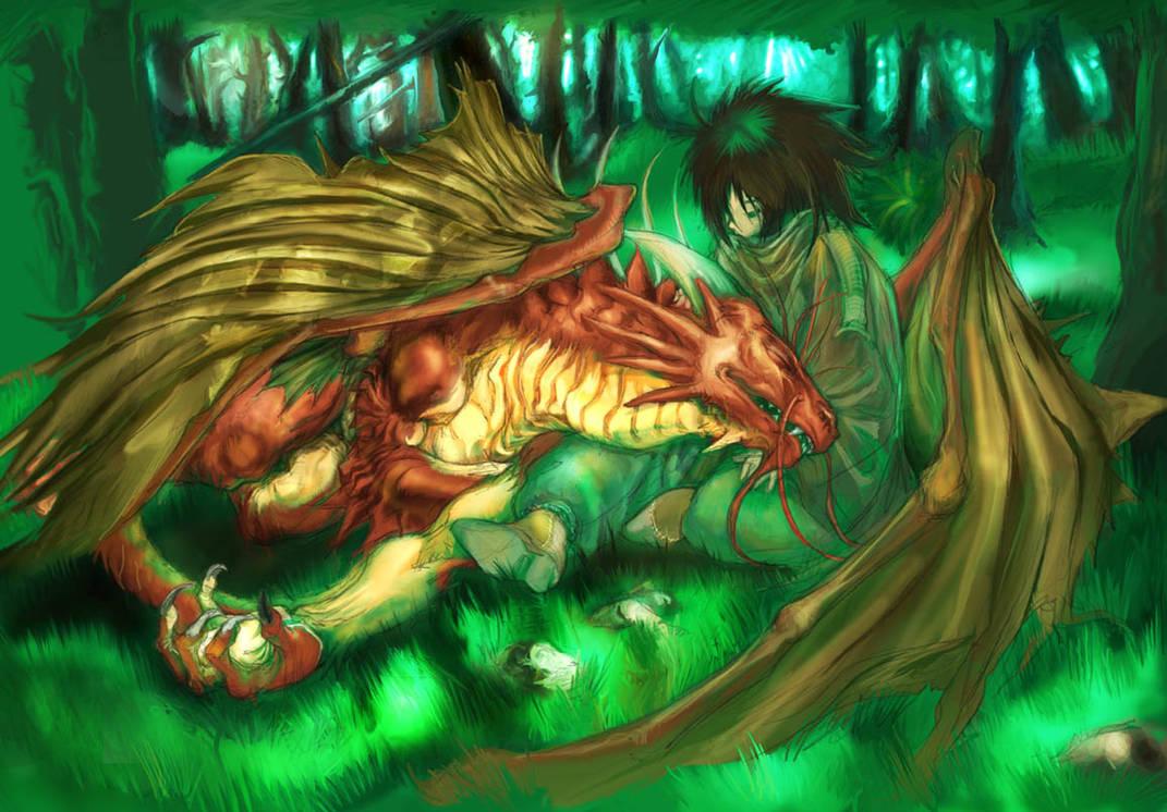 dragon and child