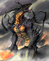 dragon hurlant by rinpoo-chuang