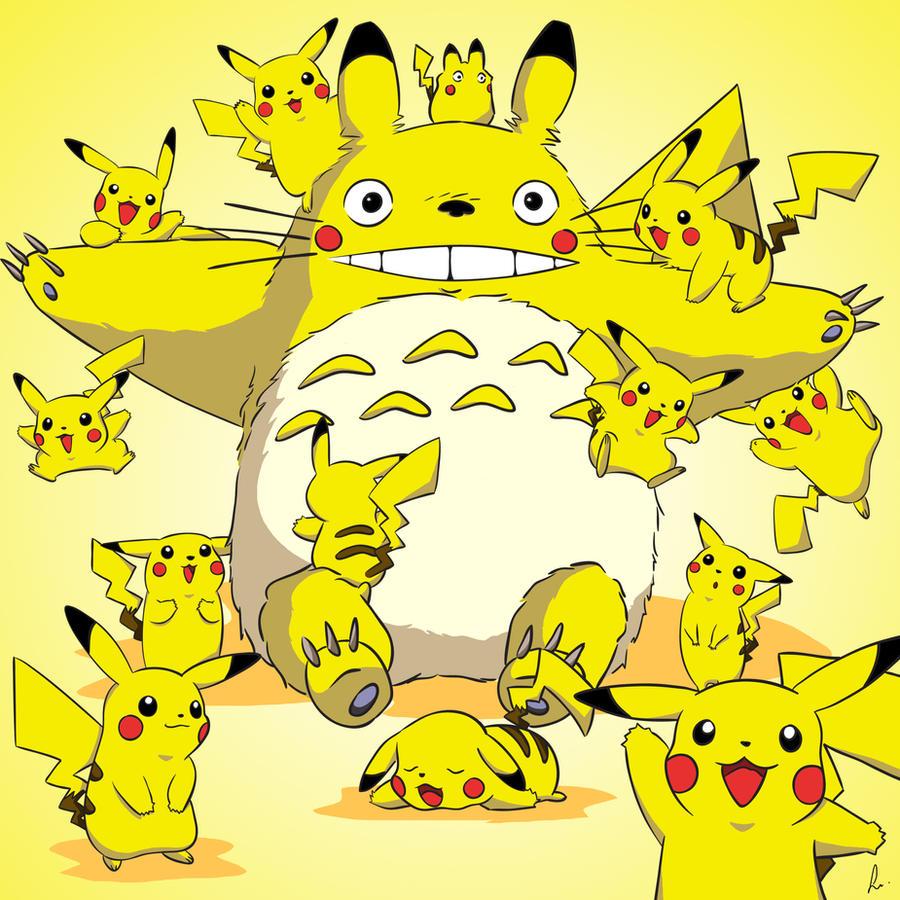 Totoro pikachu by Rammoth