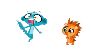 Lps Russell and Scared Sunil Vector