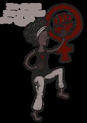 Juliette feminist woman by Ptite-Lux