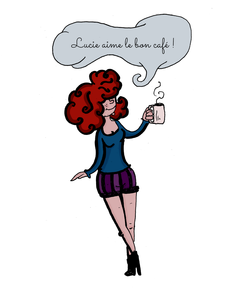 Lucie like good coffee by Ptite-Lux