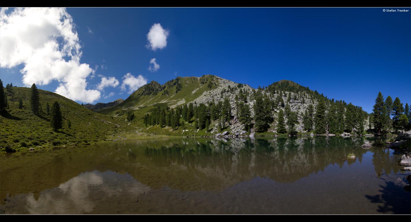 panorama, pano, lake, mountains, landscape