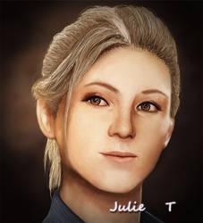 Elena - Digital Painting by Julie-Tr