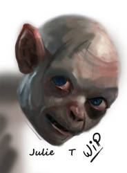 Gollum - WIP by Julie-Tr