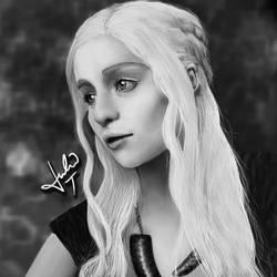 Daenerys Targaryen - Digital Painting by Julie-Tr