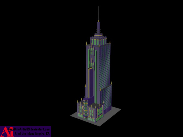 All Poly Art-Deco Tower by DarkDijinArtie89