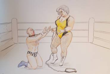 Mixed Wrestling Chain Match by ringwrestler