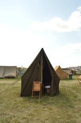 military tent vintage