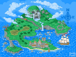 Pixel Art Treasure Island #1