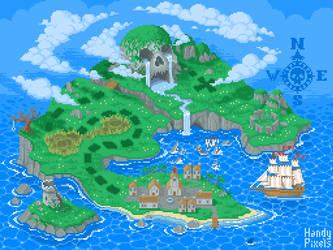 Pixel Art Treasure Island #1