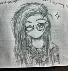 Skrillex anime pencil sketch ~ by hollyvalance