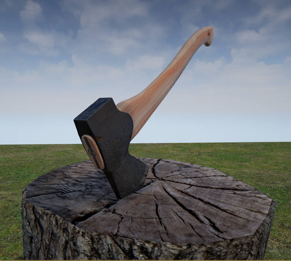 Forest Axe Unreal engine render by Otis-Spunks on DeviantArt