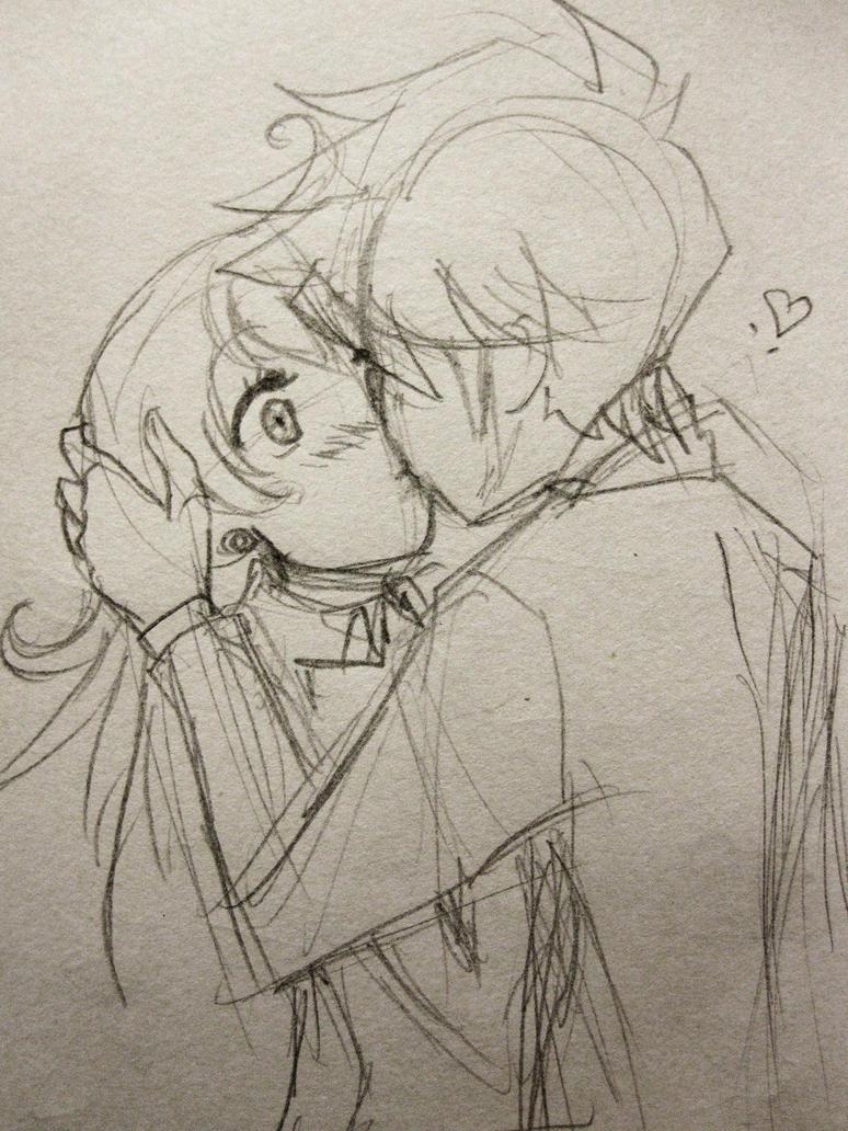 Kissing Sketch By KarolinaMixiao On DeviantArt
