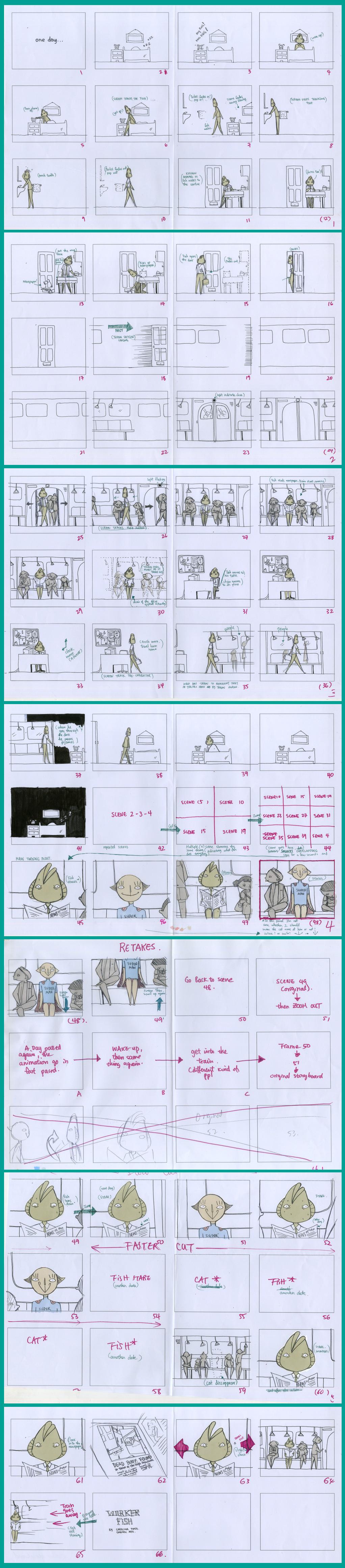 worker fish storyboard a3 by karolinamixiao on deviantart