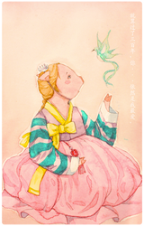 Piggy in a hanbok Rooftop prince