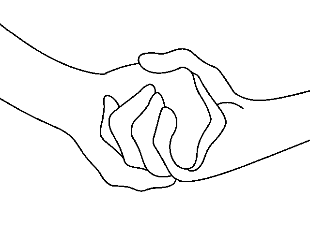Line Drawing Holding Hands : Holding hands base by kittybat on deviantart