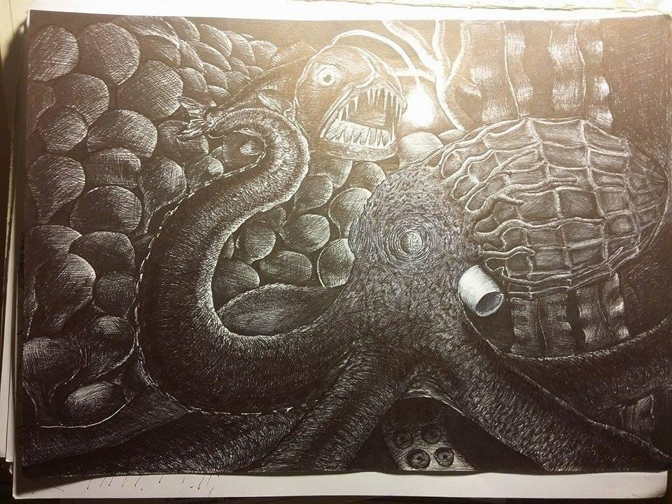 Ballpen Octopus by Savant420