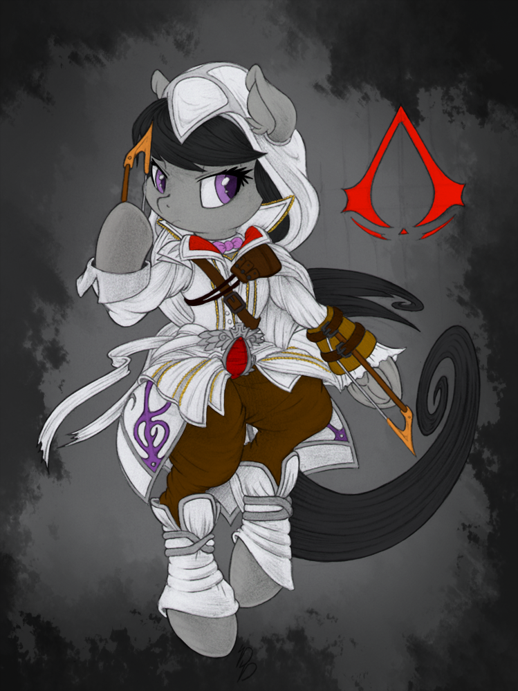 Octavia 'Assassin's Creed' Sketch (colored) by Dragonfoorm