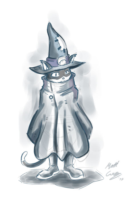 Fingrid the Wizard Cat by MattCarberry