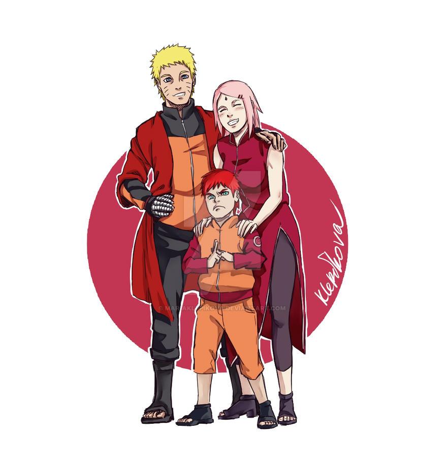narusaku family by MariaKlepikova