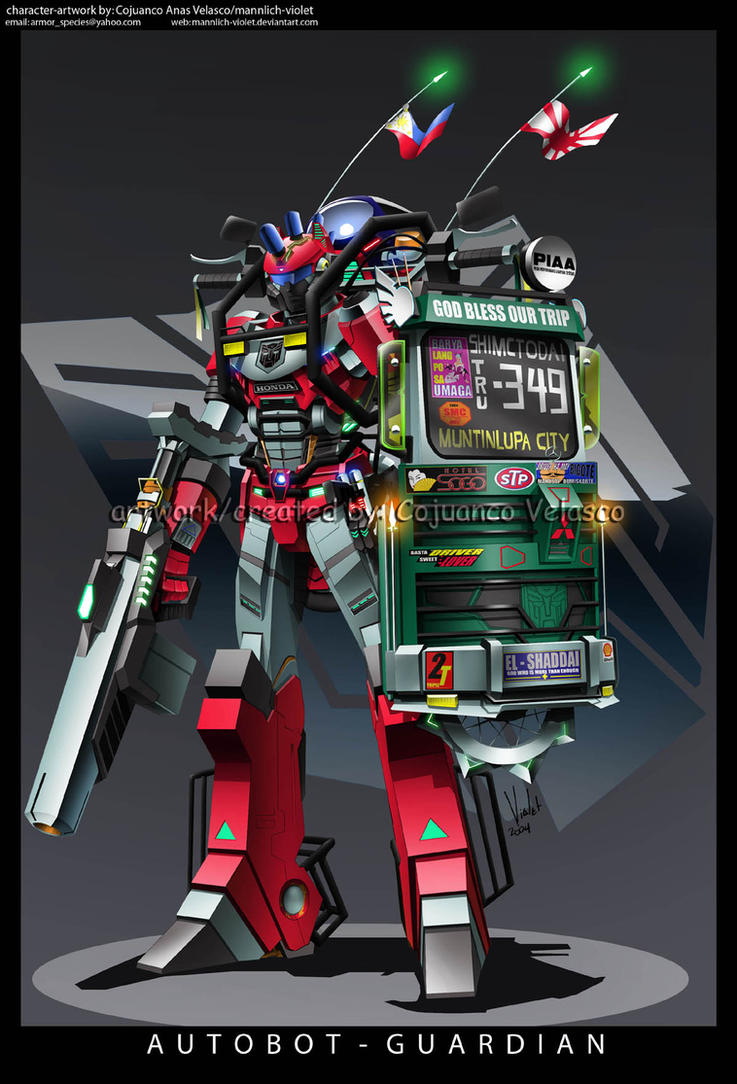 Green Shield autobot guardian by mannlich-violet